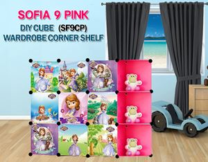 SOFIA PINK 9C DIY Wardrobe with Corner Shelf (SF9CP)
