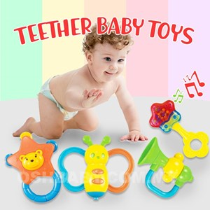 6 IN 1 TEETHER BABY TOYS