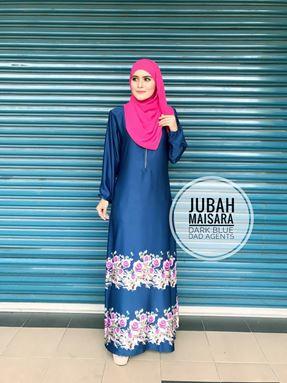 Jubah Maisara Dark Blue