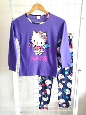 Pyjamas PLAIN HELLO KITTY ANGEL Purple - Long Sleeve 1y-8y