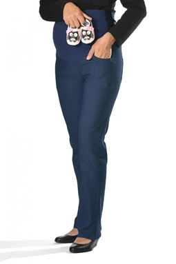 Maternity Straight Pant Mi - Denim Blue