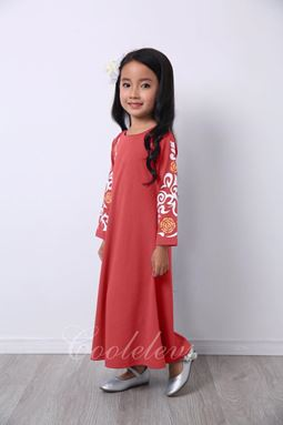 2017 COOL ELVES JUBAH RAYA SET C  ( RED )  SIZE 2-12