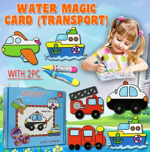 WATER MAGIC CARD (TRANSPORT) WITH 1 PC WATER PEN
