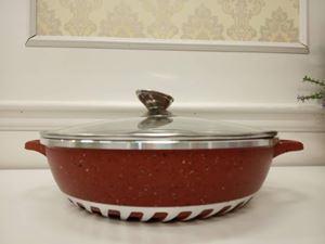 (RED) 28CM SHALLOW CASSEROLE GRANITO