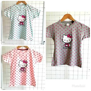 T-Shirt Short Sleeve HELLO KITTY LOVE: Size 1y-8y (1 - 8 tahun) KW