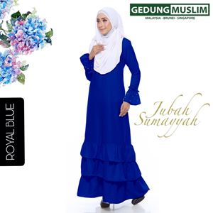 JUBAH SUMAYYAH-ROYAL BLUE