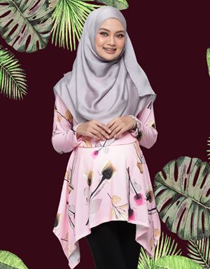 Rabecca Blouse Printed - Cherry Blossom Pink