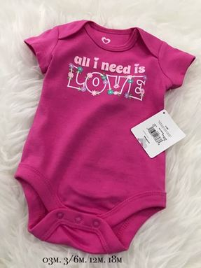 Girl Rompers (Love) 0-3m