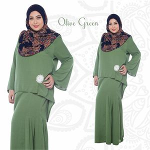 Kurung Aryna - Olive Green