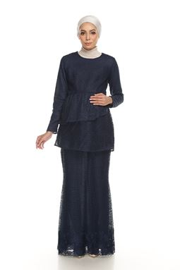 Sri Mellur Kurung Exclusive - NAVY BLUE