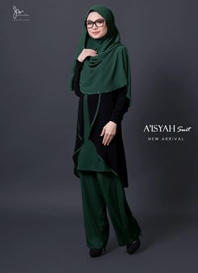 AISYAH SUIT ( Emerald Green )