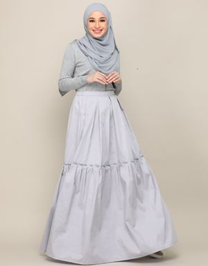 LEAH SKIRT IN GREY