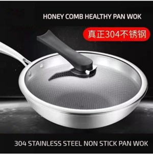 Honeycomb Wok Frying Pan 32cm