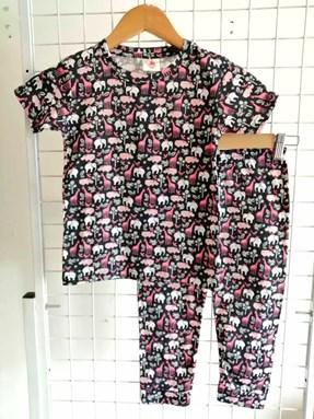 Pyjamas JR SAFARI BLACK :  Kids 1/2 - 7/8