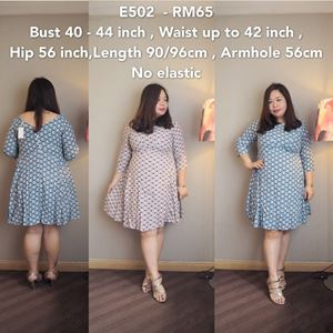 E502 *Ready stock-Bust 40 to 44 inch/100-112cm