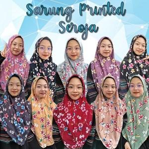 SARUNG PRINTED SEROJA - LELONG