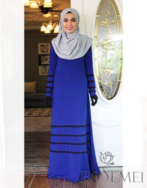 LE DHEA DRESS - ROYAL BLUE