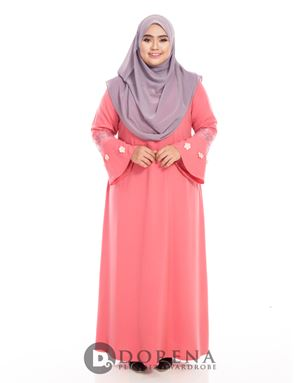 ADHANIE Jubah Pink