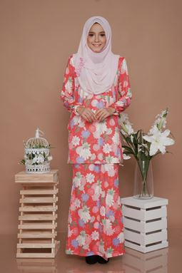 SALE -Diva Mini Kurung (DV215) - Nursing + Maternity ( XL, 2XL)