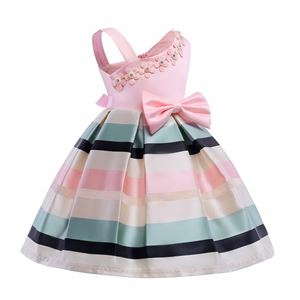 MARIA GIRL PINK STRIPE DRESS