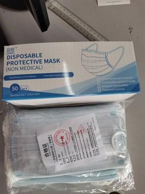 3 pry face mask  50pcs