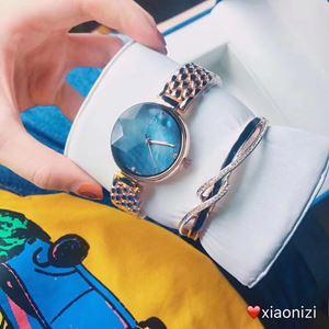 DIOR08 A01 DIOR Elegant Watch Set (Watch + Bangle )