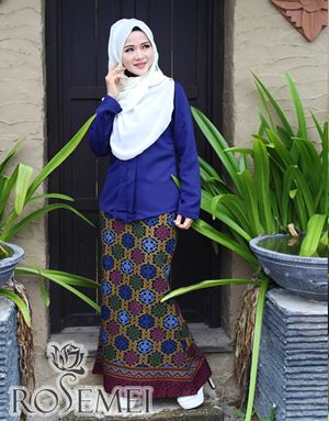 KEBAYA CHE' ORKED - ELECTRIC BLUE