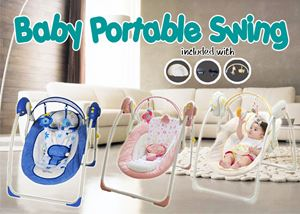 HULALA BABY PORTABLE SWING (TIMER & MUSIC)