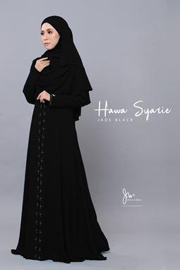JUBAH HAWA SYARIE (JADE BLACK)