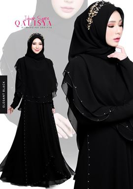 JUBAH QALISYA BLACK