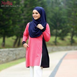 Madeena Nursing Shirt (Button) SALMON PINK