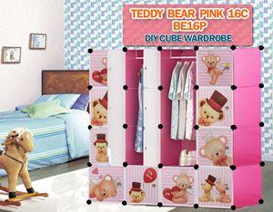 Teddy Bear PINK 16C DIY CUBE WARDROBE (BE16P)
