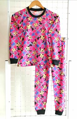Pyjamas MINNIE BLUE LOVE PINK :  Big Size 10 -16 (IKIDS)