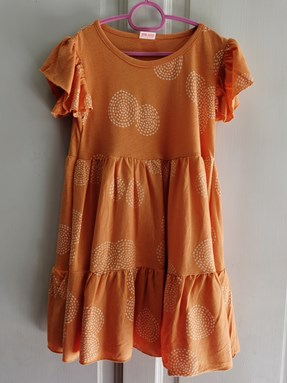 Princess Dress : Design Orange Sunset ( size 6-8 only)