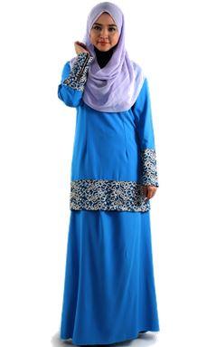 BAJU KURUNG DURRAH ( BLUE )