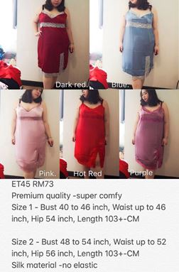 ET45 *Ready Stock *Bust 40 to 54inch/102-137cm