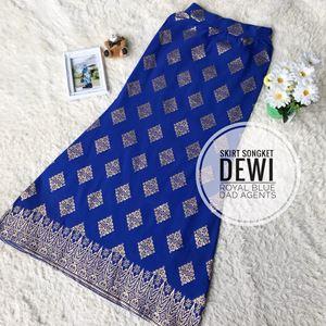 Skirt Songket Dewi Royal Blue