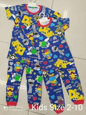 Pyjamas Viral Sleepy Mummy Biru : Kida Size 2 - 10