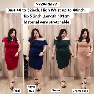 9928 Ready Stock  *Bust 44 to 52inch/ 112-132cm