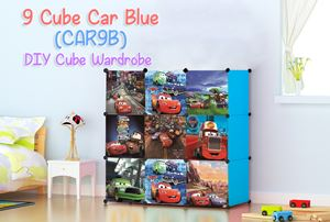 CARS BLUE 9C DIY WARDROBE (CAR9B)