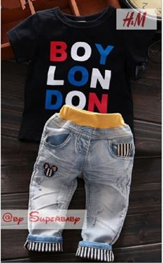 @ WS-201559-013 ( BOY LONDON - BLACK )  HM 2pcs SET (sz2-7)