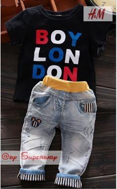 @ WS-201559-013 ( BOY LONDON - BLACK )  HM 2pcs SET (sz2-7)