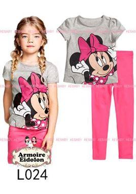 Minnie Mouse Pyjamas - Pink  (2pcs set)