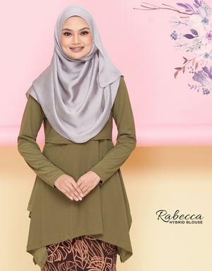 Rabecca Blouse Plain - Moss Green