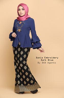 Dania Embroidery Dark Blue