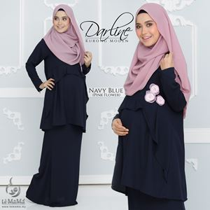 Darline Kurong Moden : Navy Blue (Pink Flower)