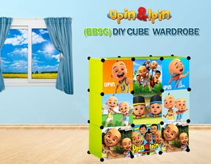 NEW Upin & Ipin GREEN 9C DIY Cube Wardrobe (BB9G)