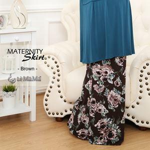 Adelia Skirt Printed : Brown
