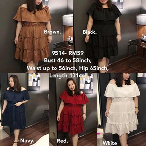 9514 Ready Stock *Bust 46 to 58 inch/ 116-147cm
