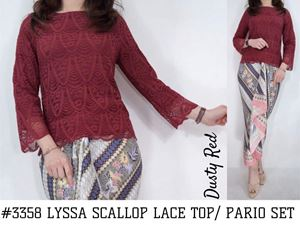 LYSSA SCALLOP LACE TOP/ BATIK PARIO SET